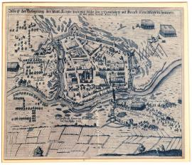 105-A drawing of the siege of the town of Lippe, which was given to the Royal Majesty of Spain by agreement on 2 November. In 1623.