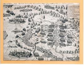 115-A sketch of the bloody battle in which His Excellency the Count Tilly, Imperial General, fought with the King of Denmark on 22 August 1626.
