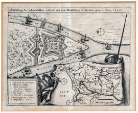 116-The illustration of the Swedish chances on the River Vistula in Prussia in 1626.