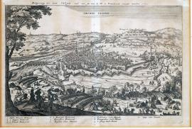 132-The siege of the town of Cazal, which was freed by His Royal Majesty of France in 1630.