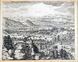 163-A picture of the town of Linz that was conquered by His Majesty, prince of Bavaria, in the name of His Imperial Majesty on 4 August 1620.