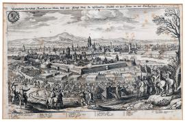 165-An illustration of the city of Frankfurt-on-Mohan and how His Royal Highness of Sweden and his army entered the city and passed through it on the 17th of November 1631.