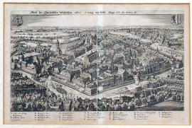 195-An illustration of the Elector-Saxon city of Leipzig, as it looks today.
