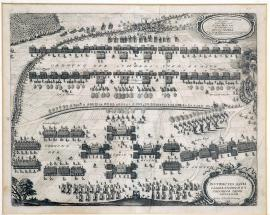 199-The positions of the Imperial and Swedish troops near Lützen. The battle positions at Lützen.