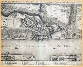 248-The fortress of Ehrenbreitstein i.e. Hermanstein, which was seized and conquered by the Imperial army. Year 1636.