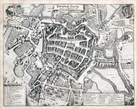 251-The city of Leipzig under the siege of 1637.