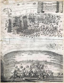 258-A real depiction of the fight that took place near Rheinfelden between His Highness Price Duke Bernhard of Weimar and the Imperial army from 18 / 28 February until 21 February of 1638.