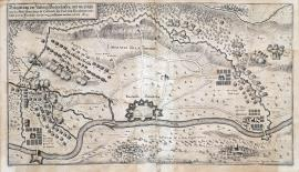 268-The siege of the fortress of Diedenhofen, which was liberated by the Imperial army commanded by His Excellency General Piccolomini, and the French were forced out from the area outside the town, in June 1639.