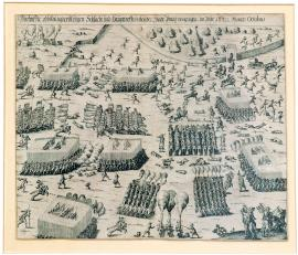 32-A true picture of the bloody battle and the main clash that took place close to the city of Prague in October 1620.