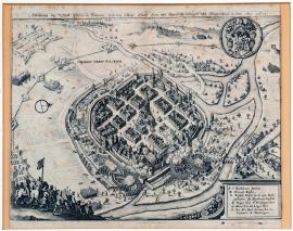 4-A picture of the town of Pilsen in Bohemia, which was besieged and conquered by the general Mansfeld in 1618.