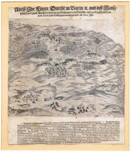 51-A picture of the field camps of His prince Majesty, duke of Bavaria, etc. and Mansfeld's camp as they lay opposite each other close to Rozvadov in Bohemia and close to Weidhausen in Upper Palatinate in 1621.