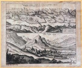 544-The actual illustration of the pass between Steig and Chur in Pünten, seized by Imperial forces in 1629.