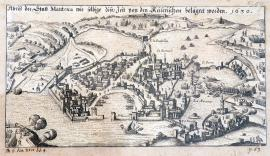 546-A drawing of the town of Mantua, as occupied by Imperial forces at the time. 1630