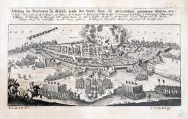 551-An illustration of the fortifications in Deutz, and the Swedish invasion which took place in 1632.