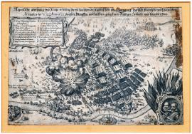 79-Actual depiction and short report of a bloody battle and the main clash of imperial forces on one side and Margrave of Durlach, Mansfeld and Palatine armies on the other side, which occurred between Wimpfen and Hailbron on 26 April/6 May 1622.