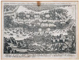 95-Actual depiction of severe fight which occurred between Mansfeld and Spanish (armies) on Brabant borders. 1622. Battle between Spanish and Mansfeld